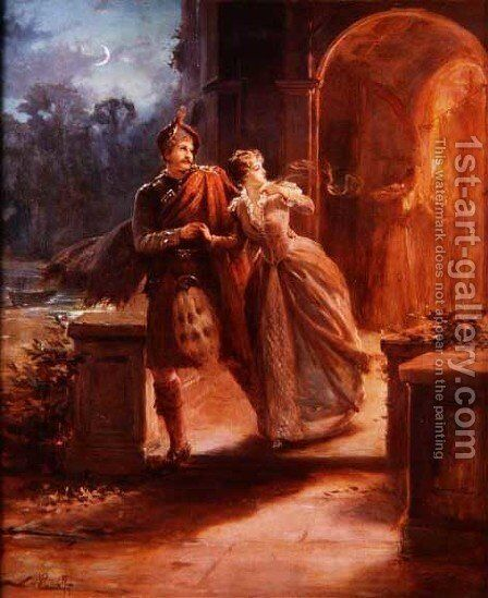 The Elopement Discovered by Alexander Rosell - Reproduction Oil Painting
