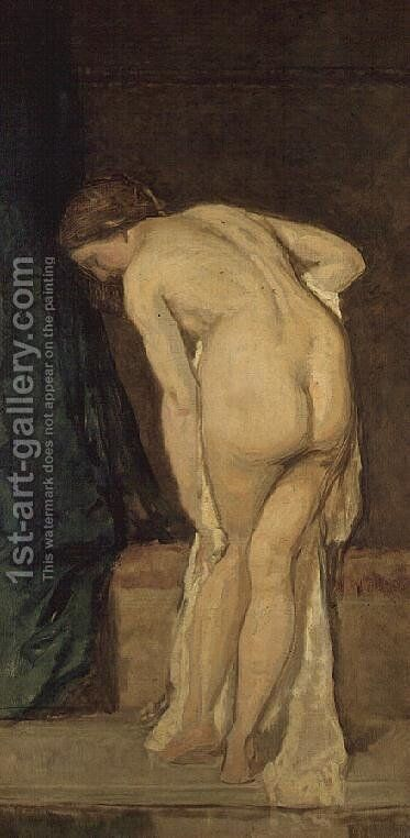 Leaving the Bath by Eduardo Rosales - Reproduction Oil Painting