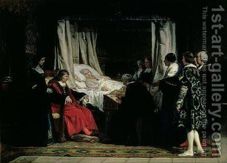 The Testament of Queen Isabella the Catholic 1451-1504 1864 by Eduardo Rosales - Reproduction Oil Painting