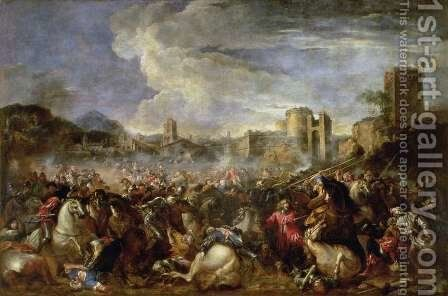 Battle scene by Salvator Rosa - Reproduction Oil Painting