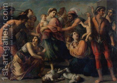 The Massacre of the Innocents by (circle of) Rosa, Francesco de (Pacecco) - Reproduction Oil Painting