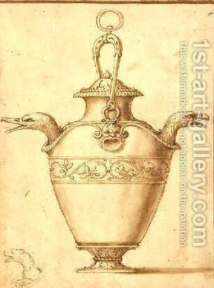 Jug with handle and two spouts by Giulio Romano (Orbetto) - Reproduction Oil Painting