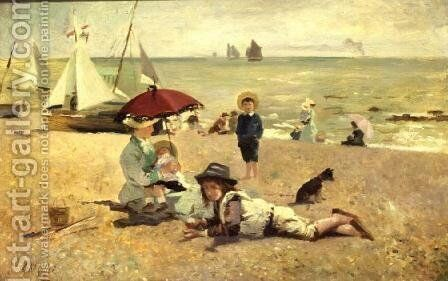 Rest by the Sands by A.M. Roisi - Reproduction Oil Painting