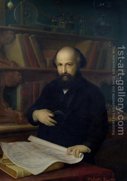 Ludwig Mond 1839-1909 1890 by A. Rohden - Reproduction Oil Painting