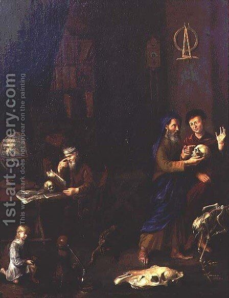 The Alchemist by (attr. to) Roestraten, Pieter Gerritsz. van - Reproduction Oil Painting