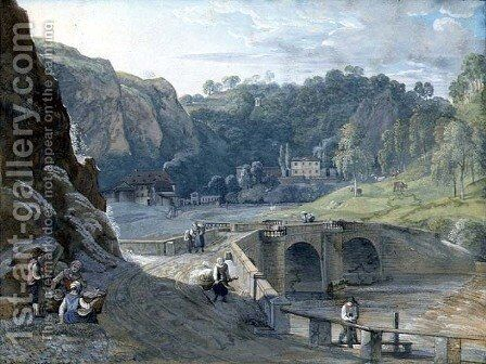 View on the Elbe by C. Roes - Reproduction Oil Painting