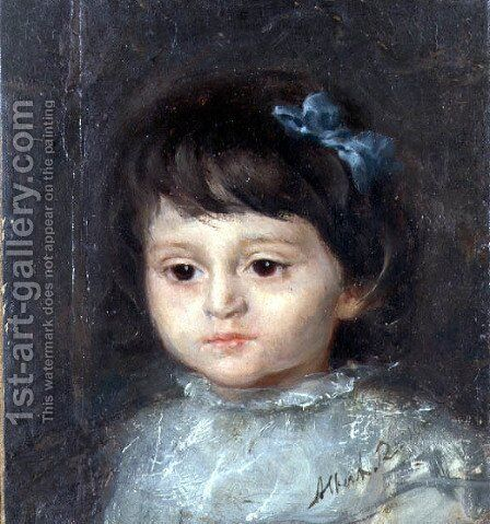 A Head Study of Erna Siegel by Albert Roelofs - Reproduction Oil Painting