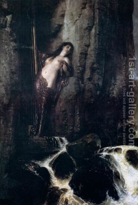 The Surf 1883 by Arnold Böcklin - Reproduction Oil Painting