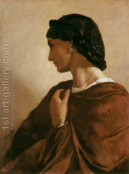 Nanna c. 1861 by Anselm Friedrich Feuerbach - Reproduction Oil Painting