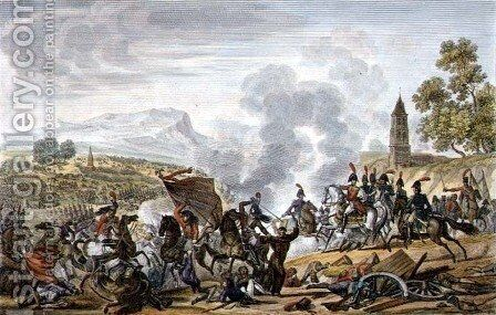 The Battle of Occana, 19 November 1809, engraved by Francois Pigeot by (after) Roehn, Adolphe Eugene Gabriel - Reproduction Oil Painting