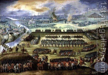 The Siege of Paris by Holland Rodrigo of - Reproduction Oil Painting