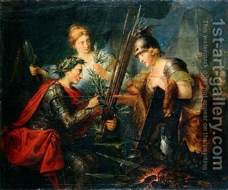Frederick the Great creating the League of Princes by Christian Bernhard Rode - Reproduction Oil Painting