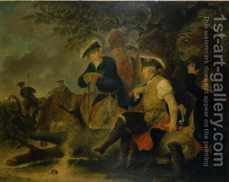 He cant have seen very many canonballs by Christian Bernhard Rode - Reproduction Oil Painting