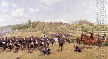 The Infantry Will Advance by Carl Rochling - Reproduction Oil Painting