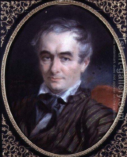 Portrait of Prosper Merimee 1803-70 1853 by Simon Jacques Rochard - Reproduction Oil Painting