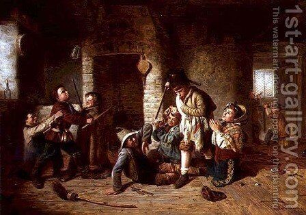 Playing Soldiers, 1862 by Matthias Robinson - Reproduction Oil Painting