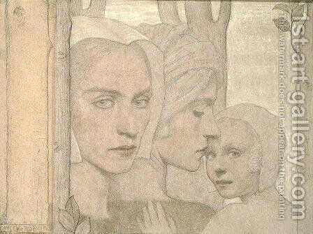 The Two Sisters, 1908 by Frederick Cayley Robinson - Reproduction Oil Painting