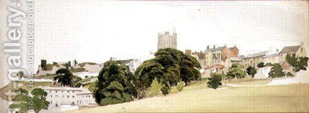 A View of Richmond Castle, Yorkshire, c.1860 by Edward W. Robinson - Reproduction Oil Painting