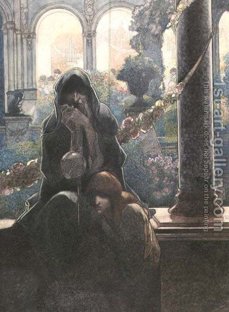 The Happy Prince by Oscar Wilde- The Rich Making Merry by Charles Robinson - Reproduction Oil Painting