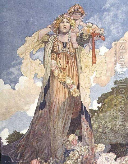 Summer from The Seasons commissioned for the 1920 Pears Annual by Charles Robinson - Reproduction Oil Painting