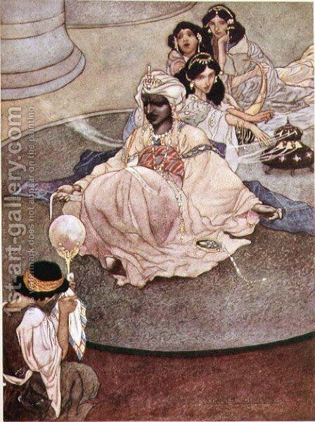 The King of the Mountains of the Moon, 1913 by Charles Robinson - Reproduction Oil Painting