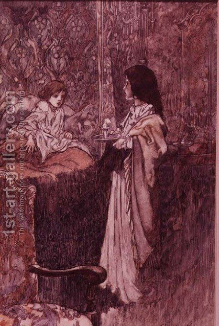 Children Talking at Night, 1911 by Charles Robinson - Reproduction Oil Painting