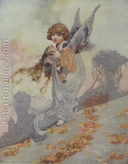 Autumn from the Seasons commissioned for the 1920 Pears Annual by Charles Robinson - Reproduction Oil Painting