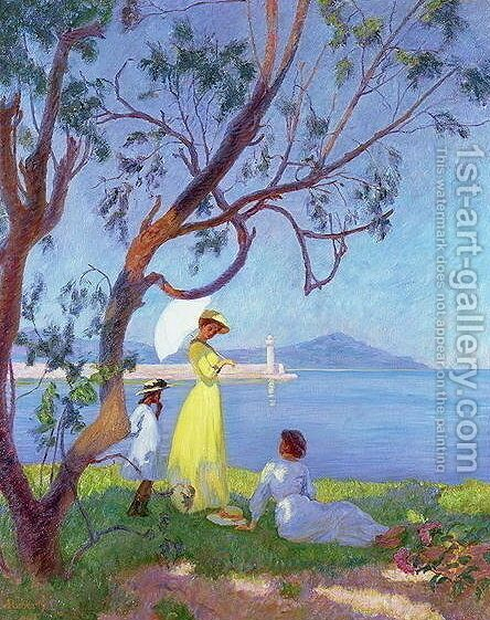 Ladies by the Seashore, 1910 by Andre Roberty - Reproduction Oil Painting