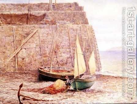 Sorting the Nets by Charles Robertson - Reproduction Oil Painting