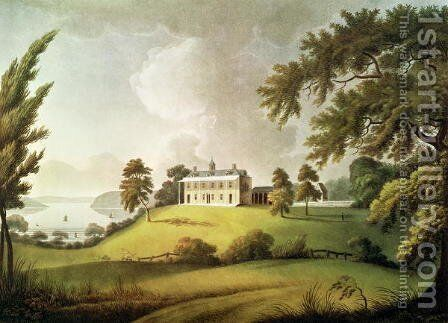 Mount Vernon, Virginia, home of George Washington, engraved by Francis Jukes 1745-1812 1800 by (after) Robertson, Alexander - Reproduction Oil Painting