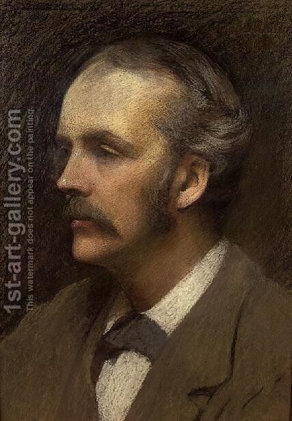 Portrait of the Rt.Hon. Arthur Balfour, 1892 by Ellis William Roberts - Reproduction Oil Painting