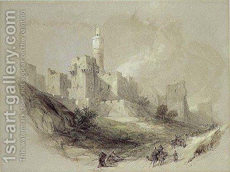 Jerusalem and the Tower of David by David Roberts - Reproduction Oil Painting