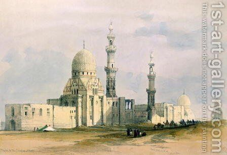 Tomb of Sultan Qansuh Abu Said, 1499, in the Eastern Cemetery or Tombs of the Caliphs, Cairo, from Egypt and Nubia, Vol.3 by David Roberts - Reproduction Oil Painting
