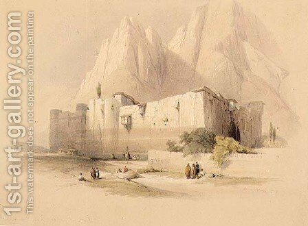 The Convent of St. Catherine, Mount Sinai, February 21st 1839, plate 109 from Volume III of The Holy Land, engraved by Louis Haghe 1806-85 pub. 1849 by David Roberts - Reproduction Oil Painting