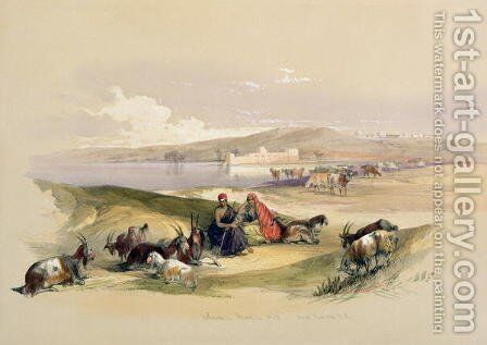 Ashdod, March 24th 1839, plate 58 from Volume II of The Holy Land, engraved by Louis Haghe 1806-85 pub.1843 by David Roberts - Reproduction Oil Painting