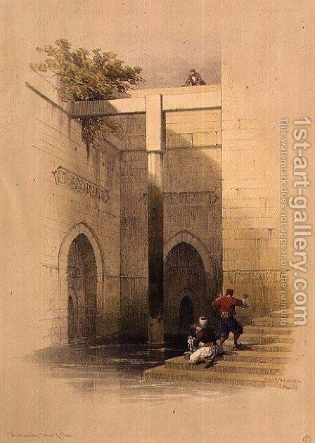 The Nileometer on Al-Rawdah Island, Cairo, from Egypt and Nubia, Vol.3 by David Roberts - Reproduction Oil Painting