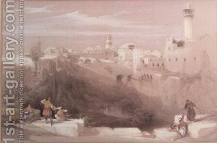 Pool of Bethesda, Jerusalem by David Roberts - Reproduction Oil Painting