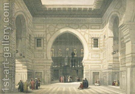 Interior of the Mosque of Sultan Hasan, Cairo, from Egypt and Nubia, Vol.3 by David Roberts - Reproduction Oil Painting