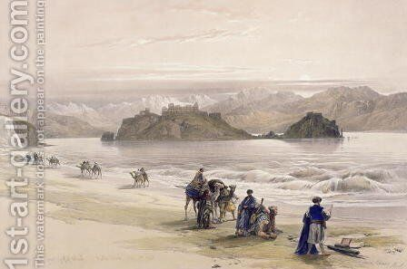 Isle of Graie, Gulf of Akabah, Arabia Petraea, February 27th 1839, plate 108 from Volume III of The Holy Land, engraved by Louis Haghe 1806-85 pub. 1849 by David Roberts - Reproduction Oil Painting