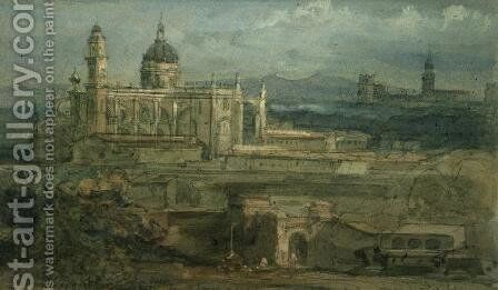 Entrance to Herez, Spain by David Roberts - Reproduction Oil Painting