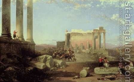 The Ruins of the Temple of the Sun at Baalbec, 1861 by David Roberts - Reproduction Oil Painting