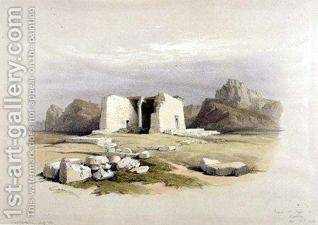 Temple at Taffah in Nubia, from Egypt and Nubia, Vol.1 by David Roberts - Reproduction Oil Painting