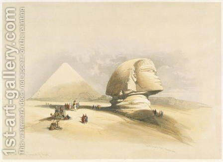 The Great Sphinx and the Pyramids of Giza, from Egypt and Nubia, Vol.1 by David Roberts - Reproduction Oil Painting