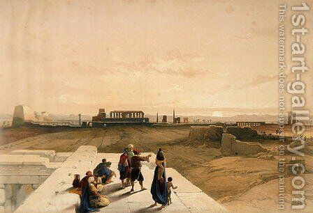 The Ruins of Karnak from the West, from Egypt and Nubia, Vol.1 by David Roberts - Reproduction Oil Painting