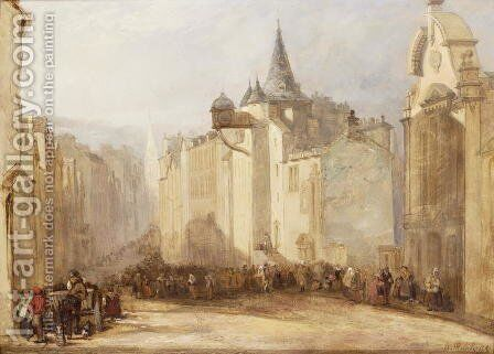 The Toll House, Edinburgh by David Roberts - Reproduction Oil Painting