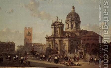 Brescia Cathedral, 1860 by David Roberts - Reproduction Oil Painting