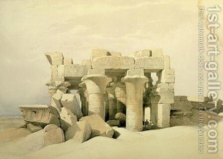 Kom Ombo by David Roberts - Reproduction Oil Painting