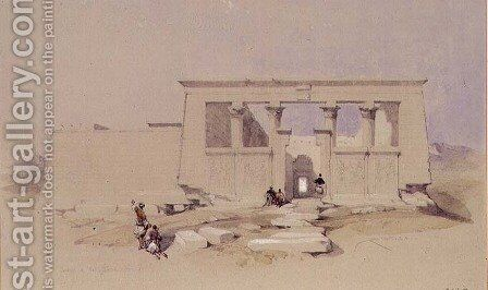Temple at Wady Dabod, Nubia 1849 by David Roberts - Reproduction Oil Painting