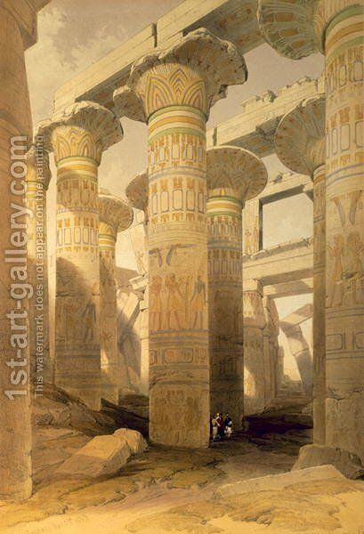 Hall of Columns, Karnak, from Egypt and Nubia, Vol.1 by David Roberts - Reproduction Oil Painting