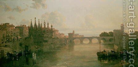 View of Pisa, c. 1859 by David Roberts - Reproduction Oil Painting